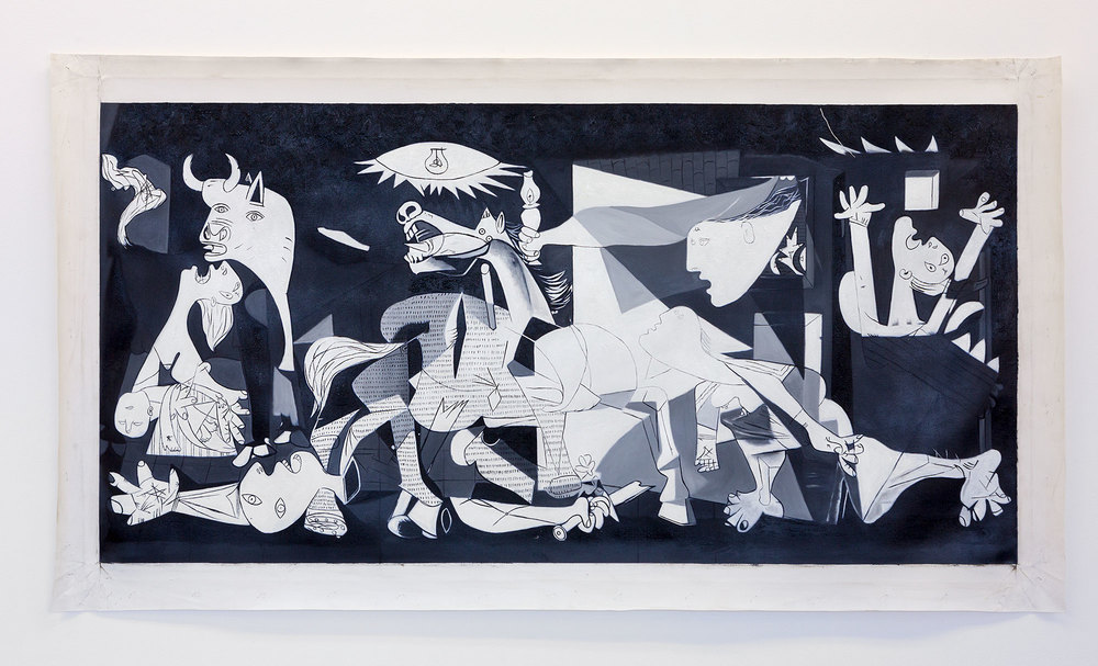 Artsheaven.com ,  painting-8598 (  Guernica),  2016 oil painting reproduction on canvas, 61 x 122 cm  Photograph: Jessica Maurer