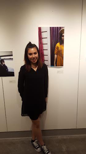 Here's me at the junior exhibition with one of my pieces from OOS. I was too nervous to remember to take a photo at my review!