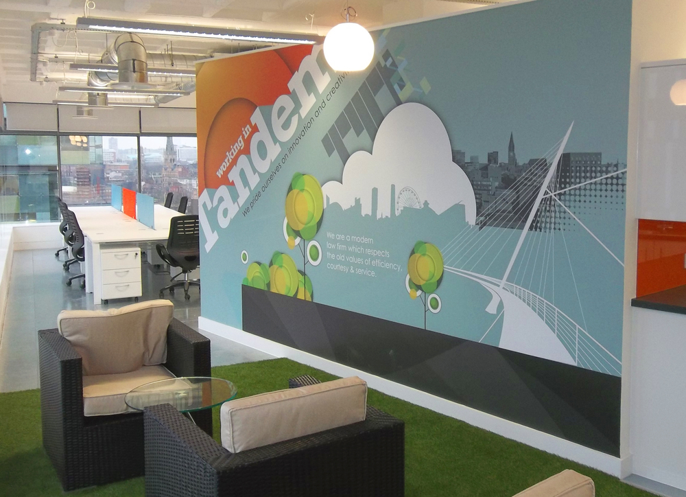 Tandem - Office wall logo and graphics