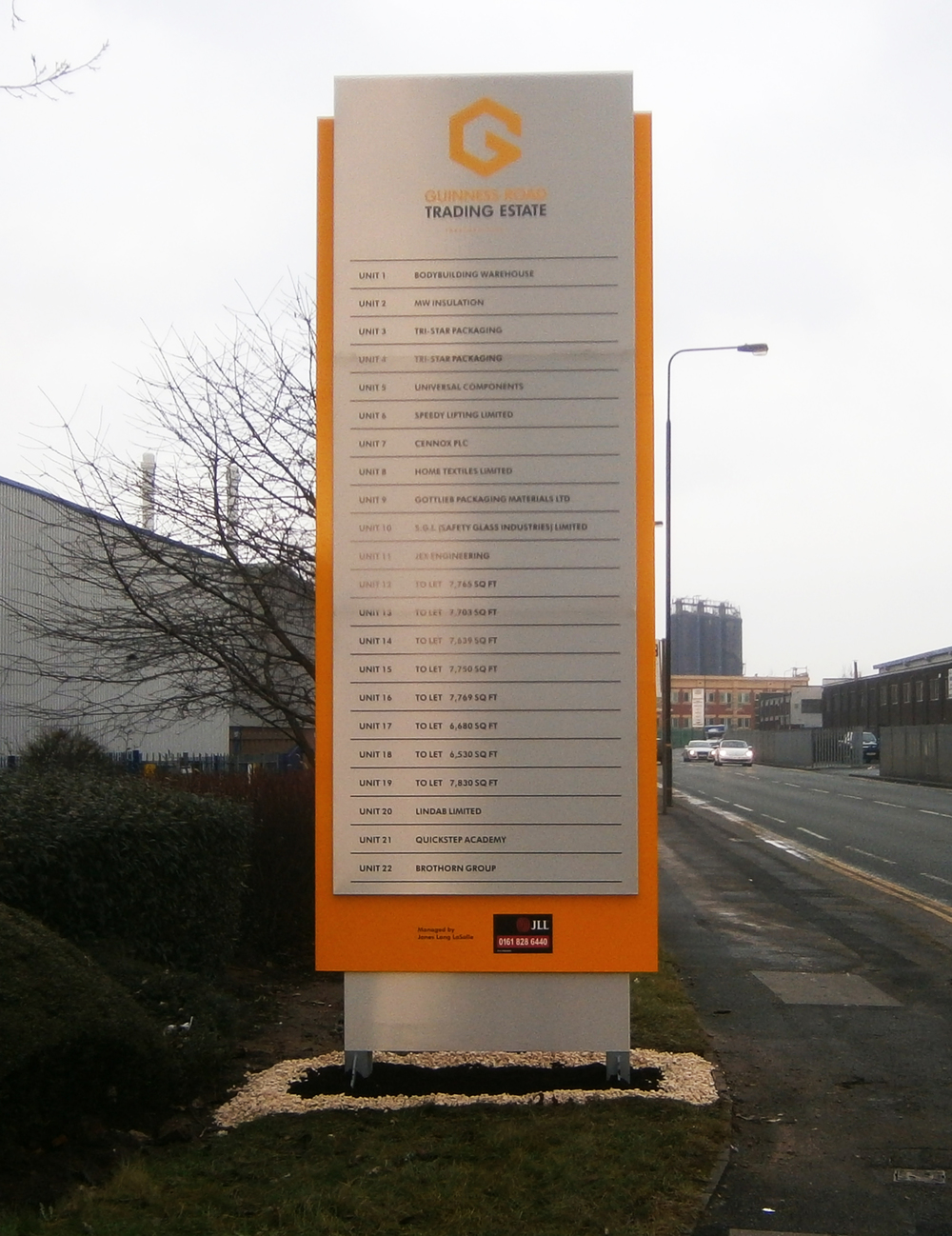 Bespoke Industrial Estate totem