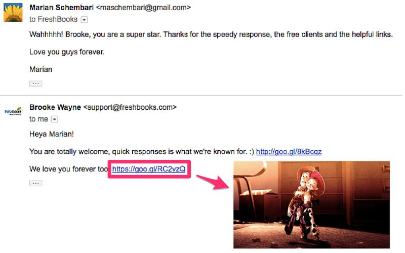 Freshbooks GIF Email