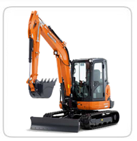 Excavators (10,000lb-15,000lb)  (Exhaust Scrubbers Available)    U55- 11,915lb      KX-057 – 13,000lb