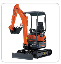 Excavators (3,000lb-4,000lb)(Exhaust Scrubbers Available) PC-18 – 3,400lb U-17 – 3,700lb