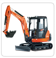Excavators (6,000lb-7,000lb) (Exhaust Scrubbers Available) KX-71 – 6,500lb PC-27 – 6,500lb