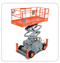 Rough Terrain with Outriggers     Skyjack 6832RT