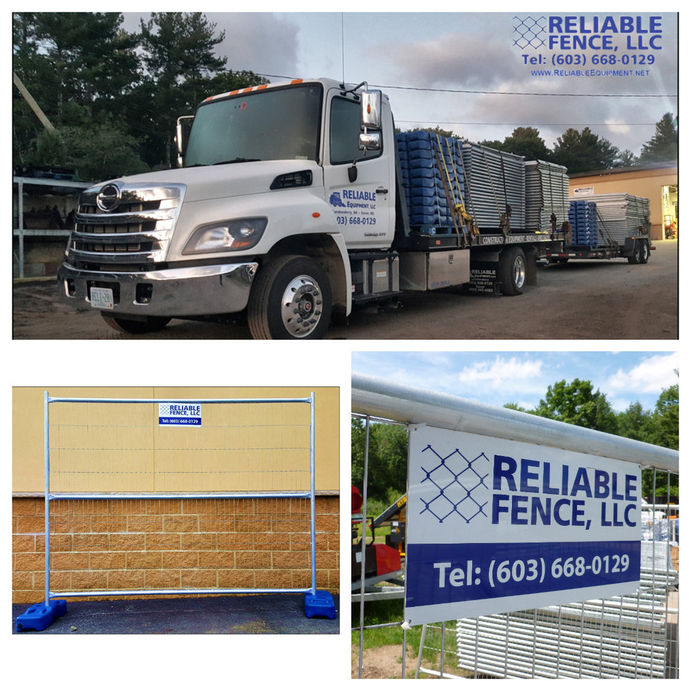 We use steel 6'x8' panels secured by metal clamps to provide a barrier to your job-site.