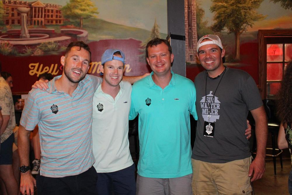 The Sir Walter Miler Team: (left to right) Sandy Roberts, Logan Roberts, Pat Price, Jeff Caron. Photo Cred: Time Meigs
