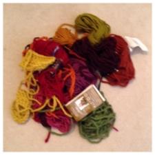 Scrap Yarn Pile