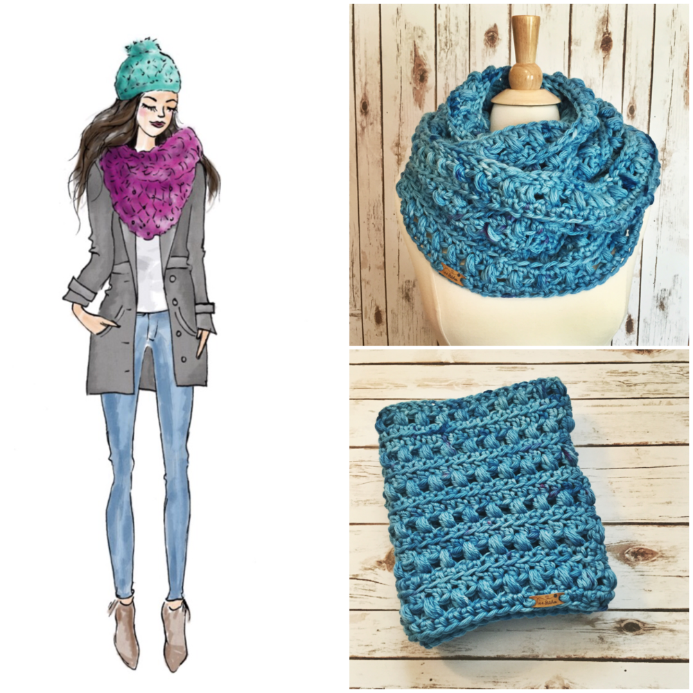 Twilight Infinity Scarf & Hat Pattern Set