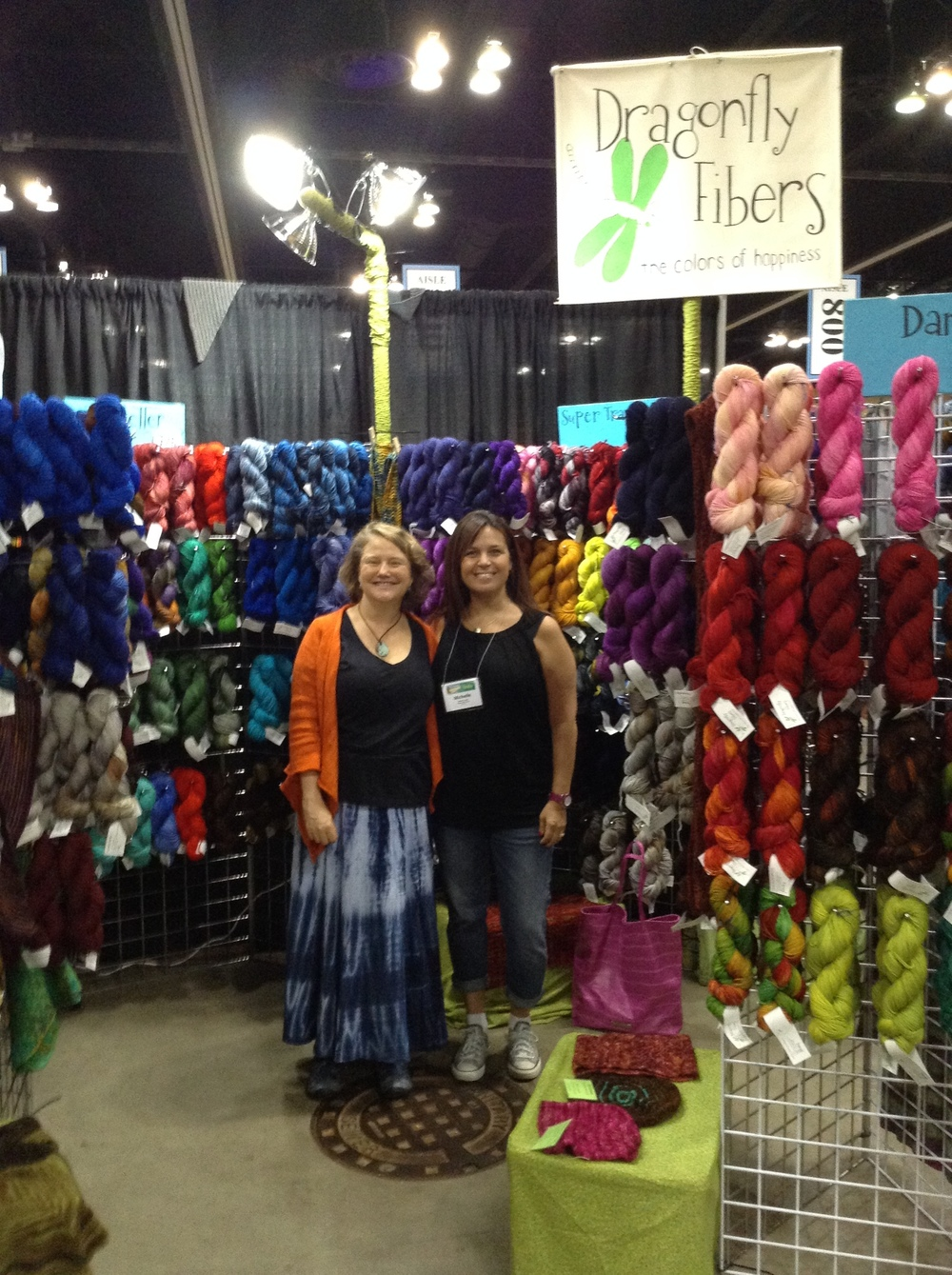 Me & Kate in the Dragonfly Fibers booth