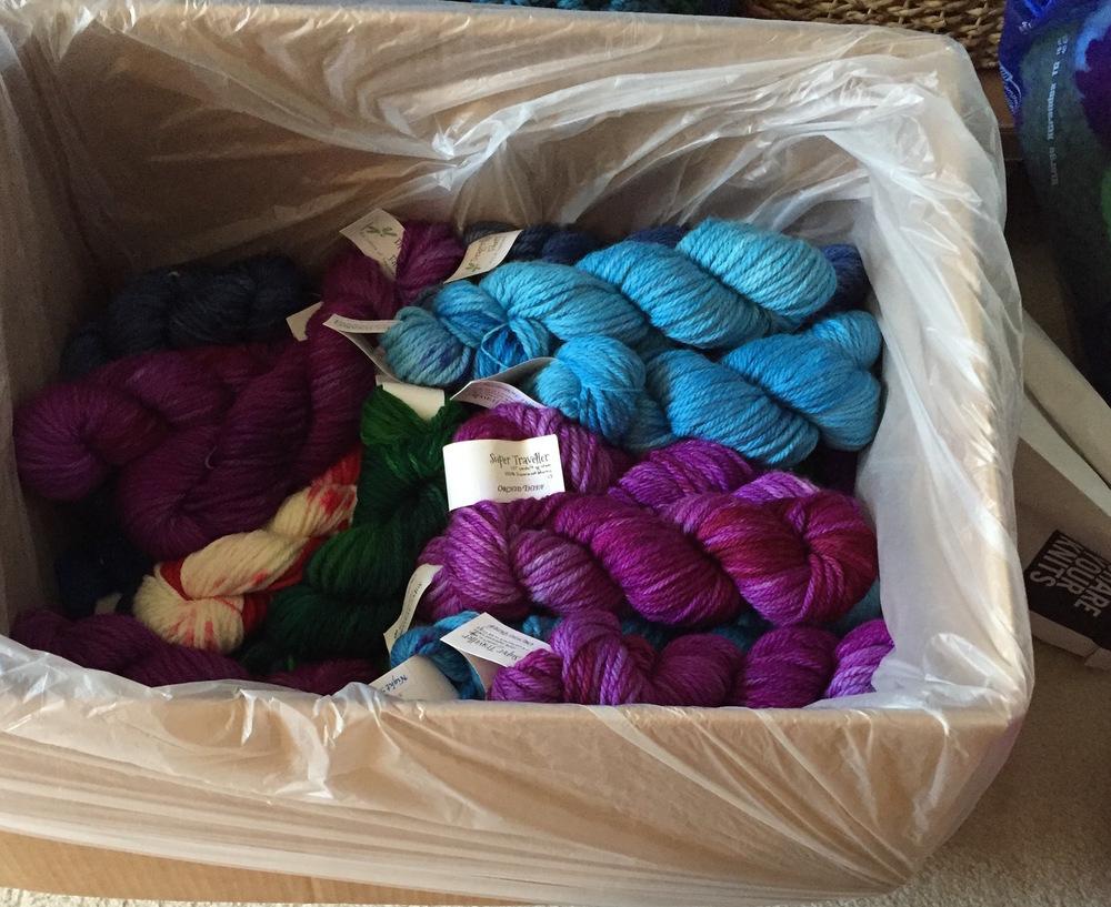 Hanks of lovely hand dyed merino