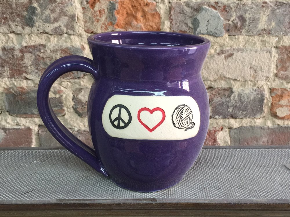 Peace, Love, Yarn Mug