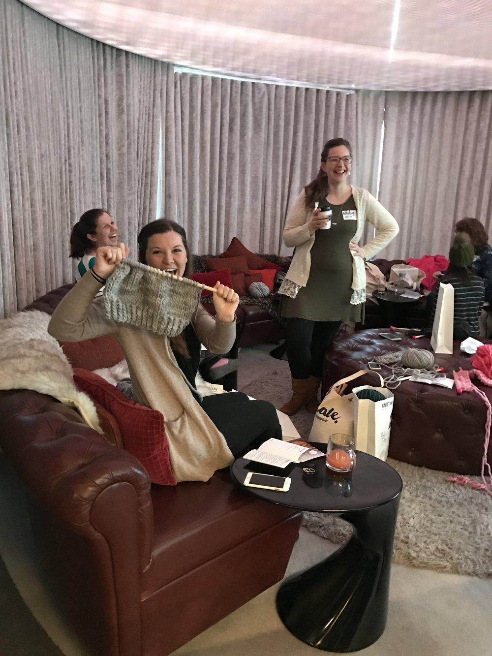 Brunch & Knitting Just Makes People Happy