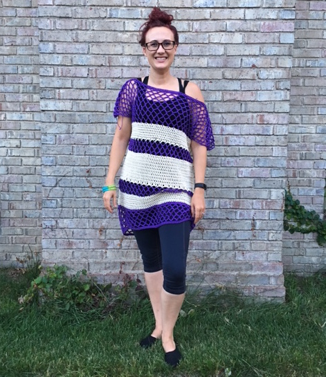 Extra Long Version - Porto Tunic - Cotton Dress Crochet Pattern