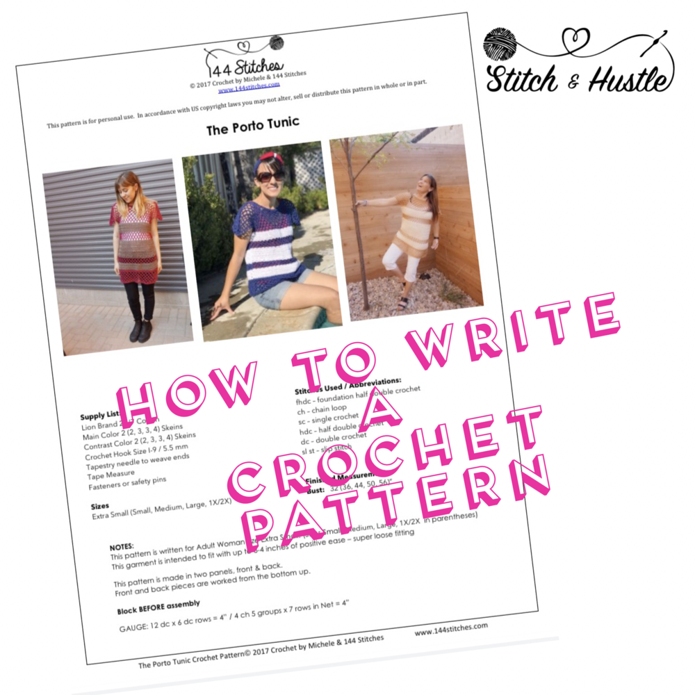 Write that pattern how to write a crochet pattern stitch hustle i was also helping two other friends begin writing patterns this week and since i know so many ask about writing patterns and bringing ideas to life bankloansurffo Gallery