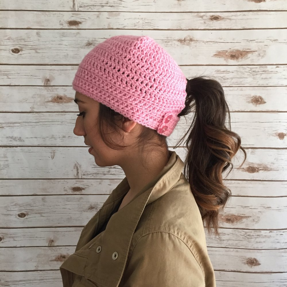 Pony Tail beanie_Norwalk Runner Pink.jpg