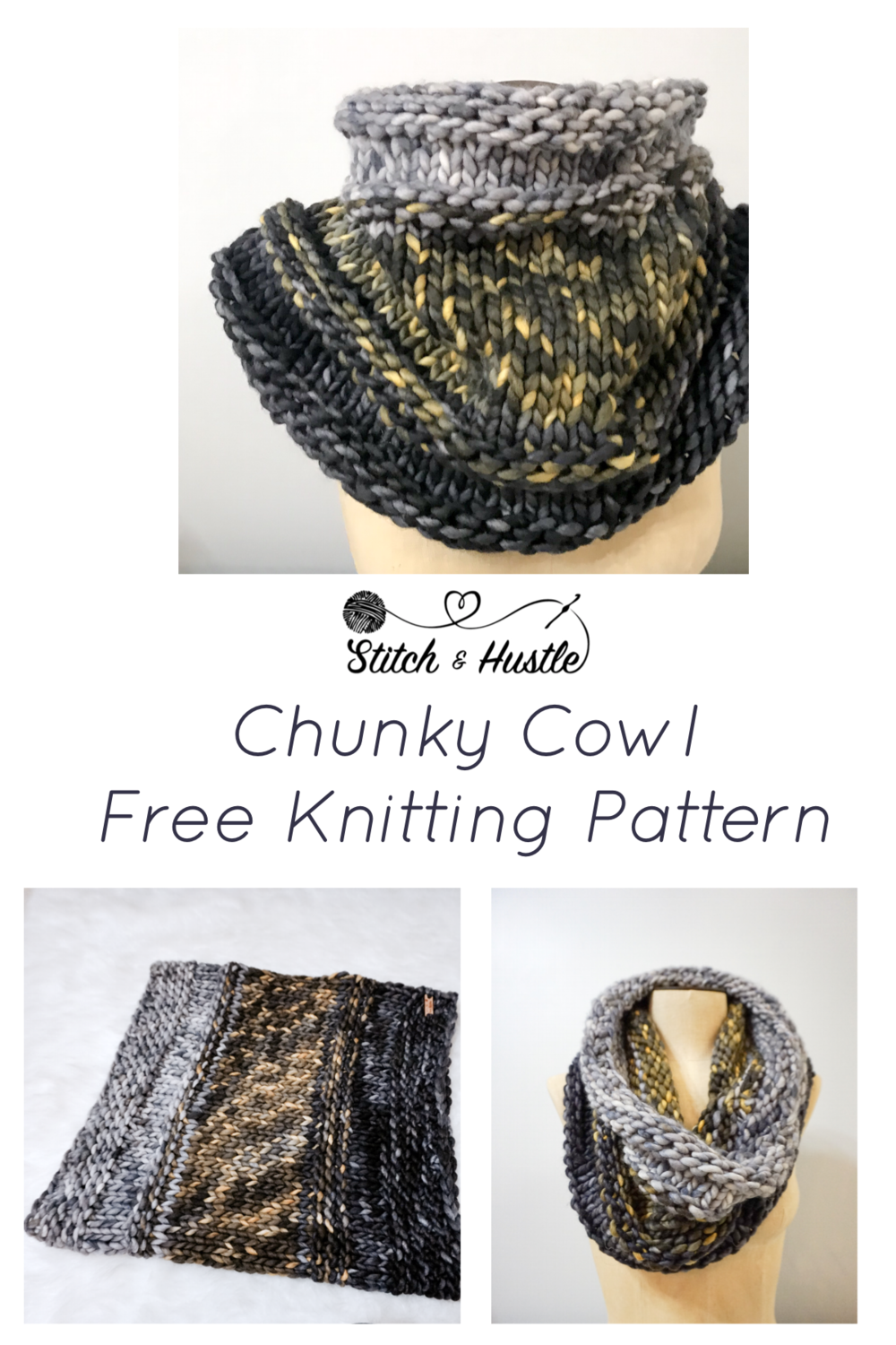 The Central Park Knit Cowl Free Pattern Stitch Hustle