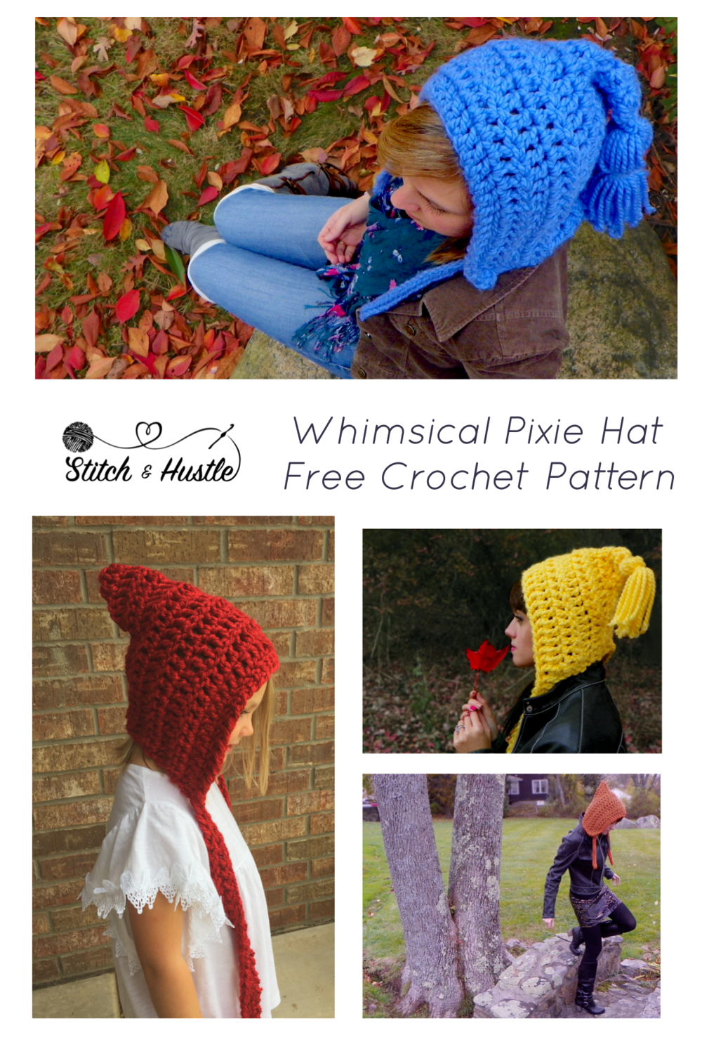 Get Your Whimsy On - Free Pixie Hat Crochet Pattern — Stitch & Hustle