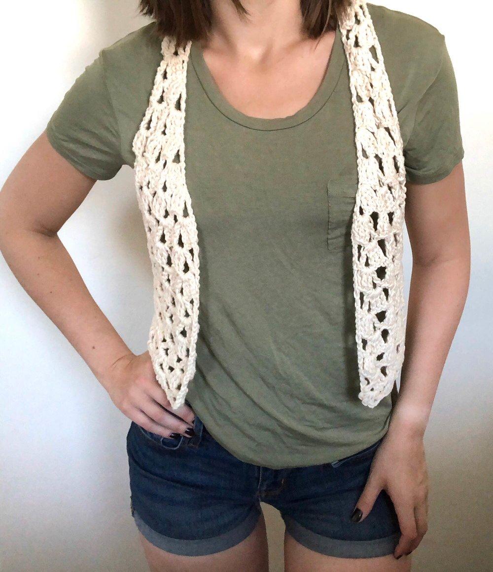 Lets Be Vesties Boho Crochet Vest Pattern Stitch Hustle