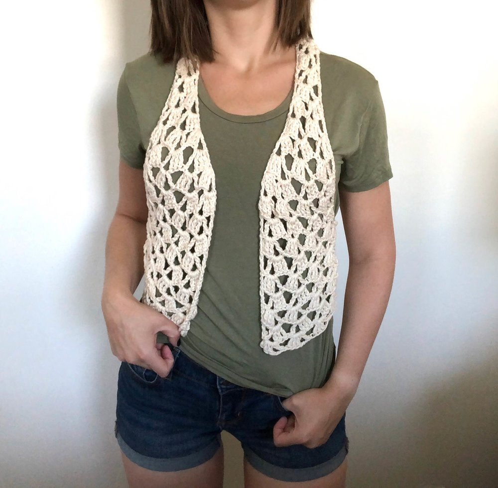 Lets Be Vesties Boho Crochet Vest Exclusive Kit Stitch Hustle