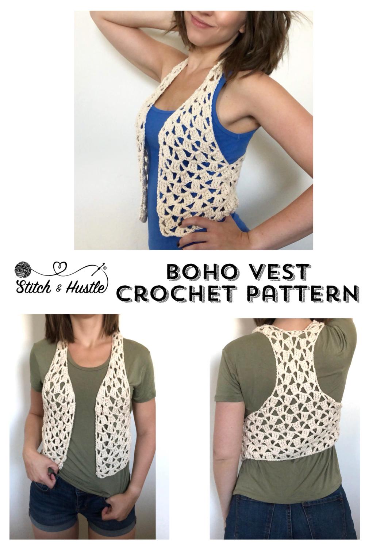 Lets Be Vesties Boho Crochet Vest Exclusive Kit Stitch Hustle