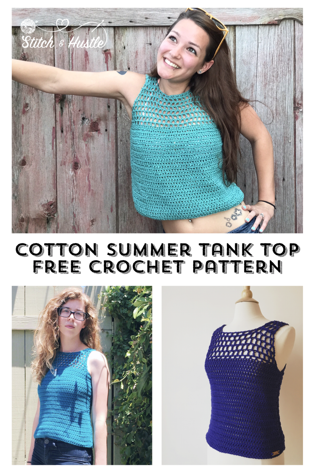 Catalina Crochet Tank Top Free Pattern Stitch Hustle
