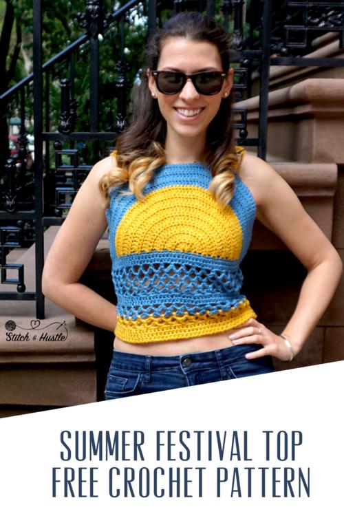 Islamorada Festival Top Free Crochet Pattern Stitch Hustle