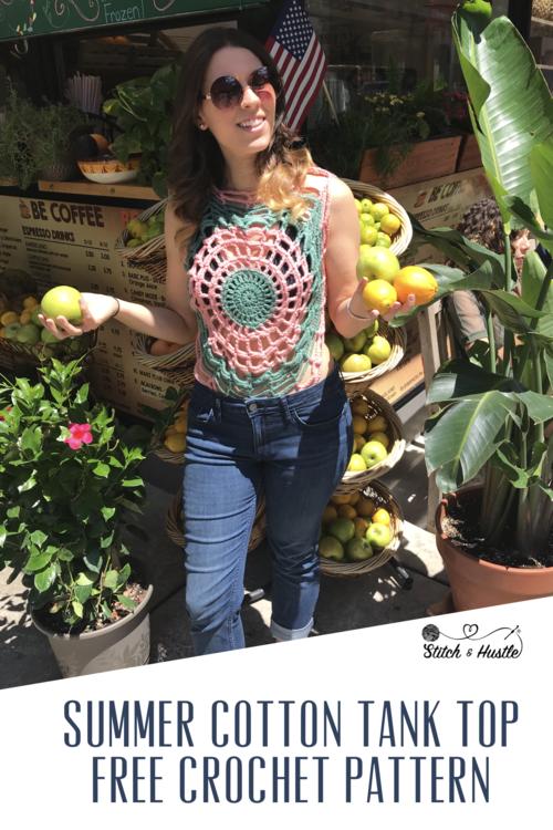Catalina Crochet Tank Top Free Pattern Stitch Hustle