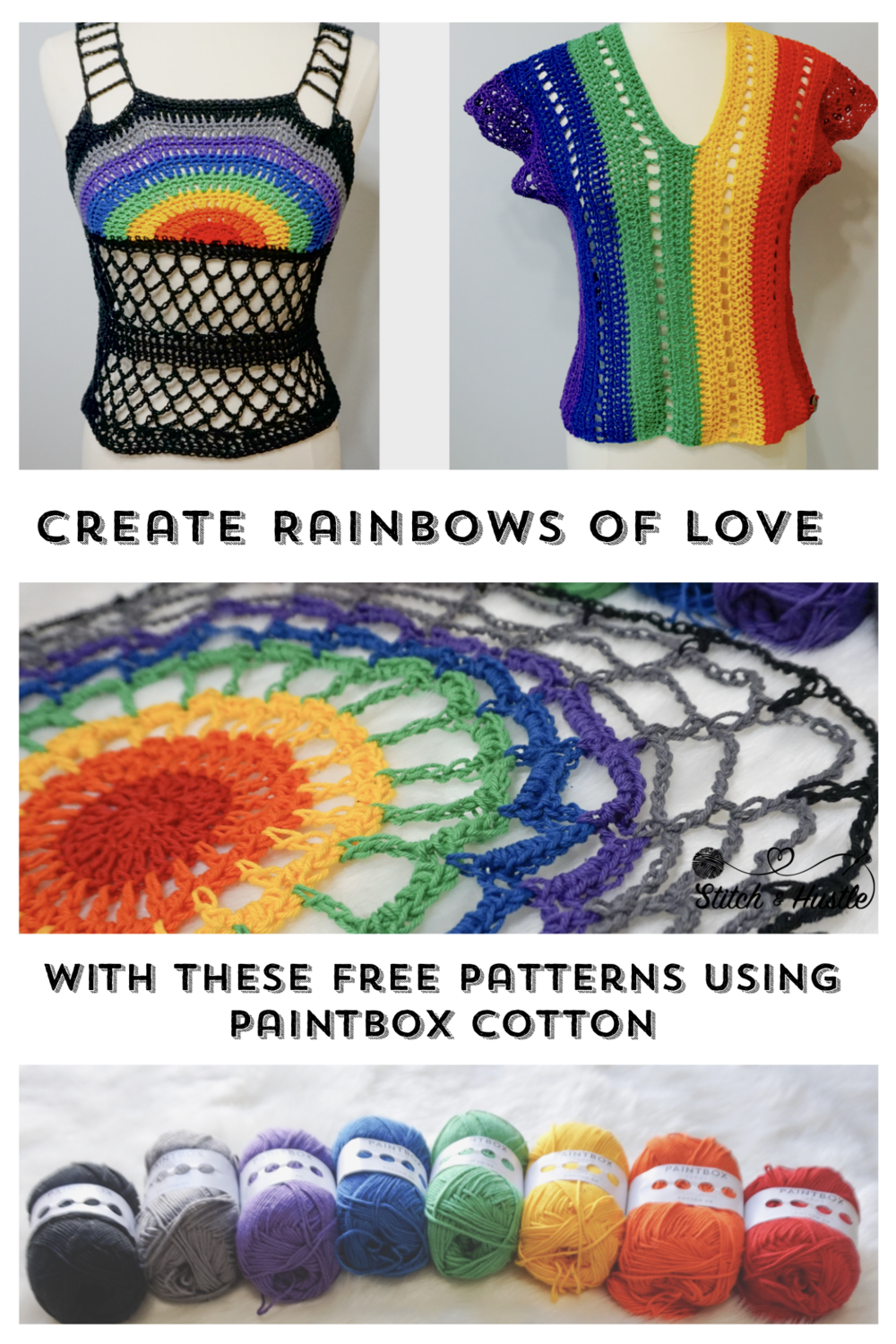 A Cotton Rainbow Three Summer Festival Crochet Top Patterns