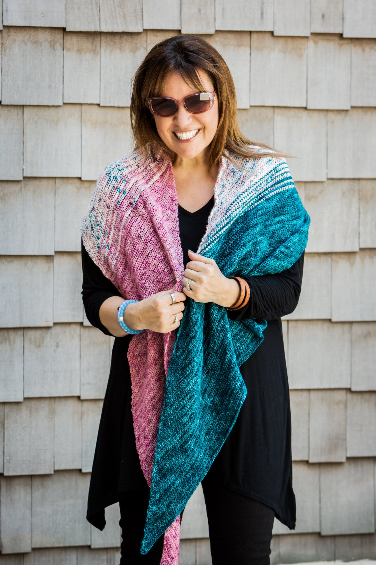 Amsterdam Crochet Your Fade Shawl Free Pattern — Stitch & Hustle