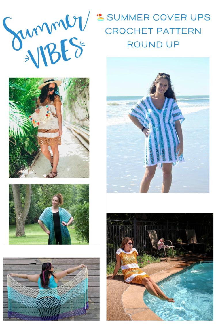 Beachy Cover Ups Free Crochet Pattern Round Up — Stitch & Hustle