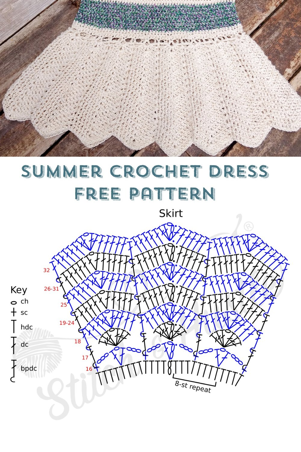 Picnic Bay Summer Dress Free Crochet Pattern Stitch Hustle