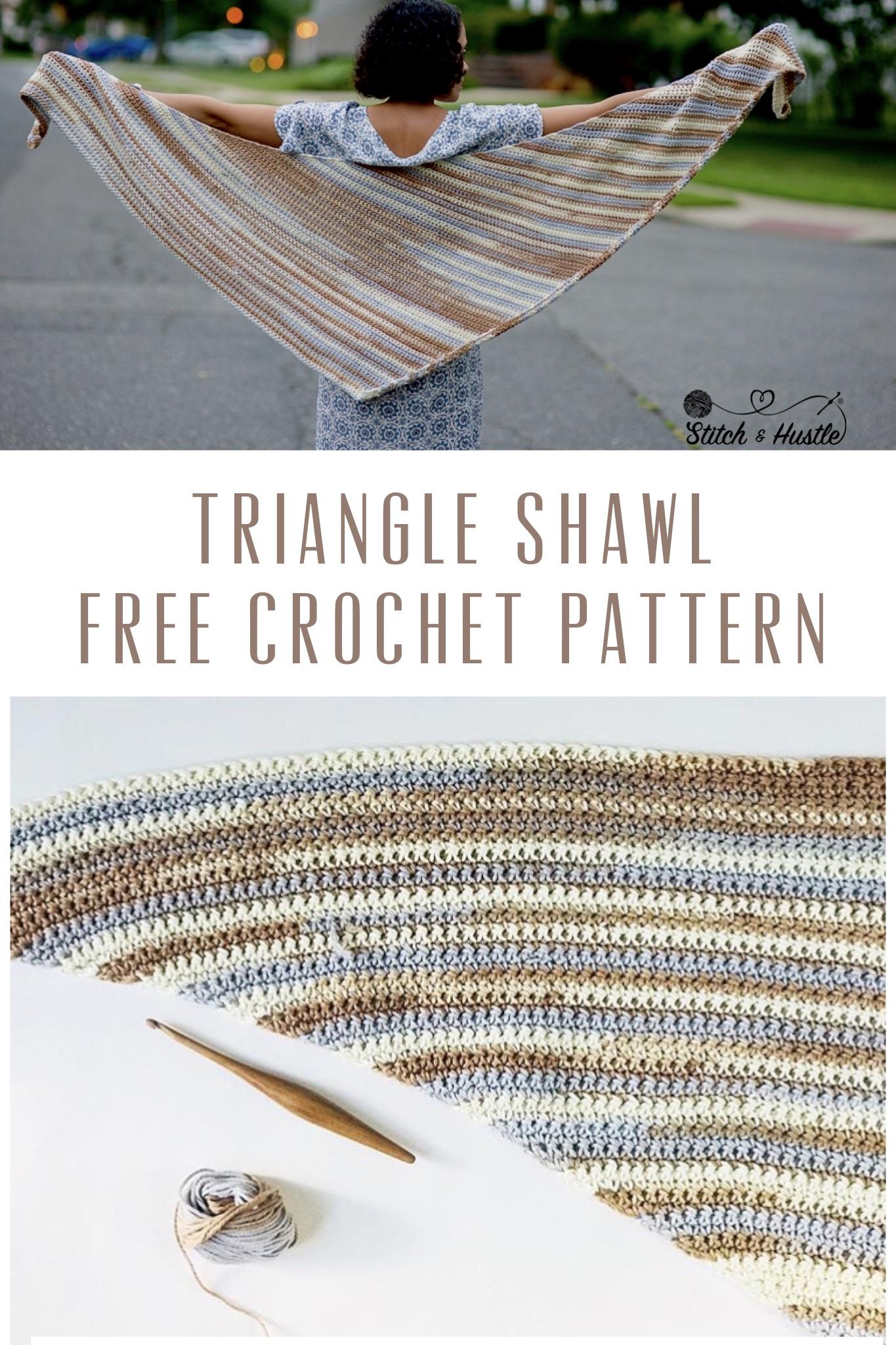 Gramercy Shawl Free Crochet Pattern Stitch Hustle