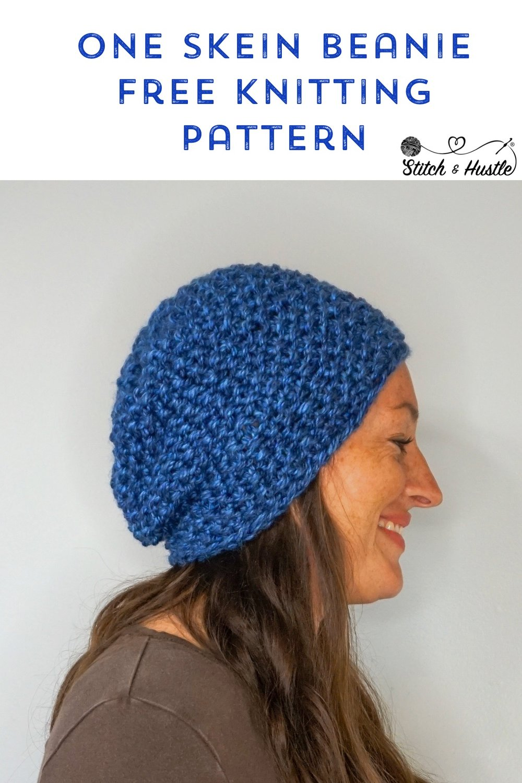 Park City Knit Beanie Free Knitting Pattern Stitch Hustle