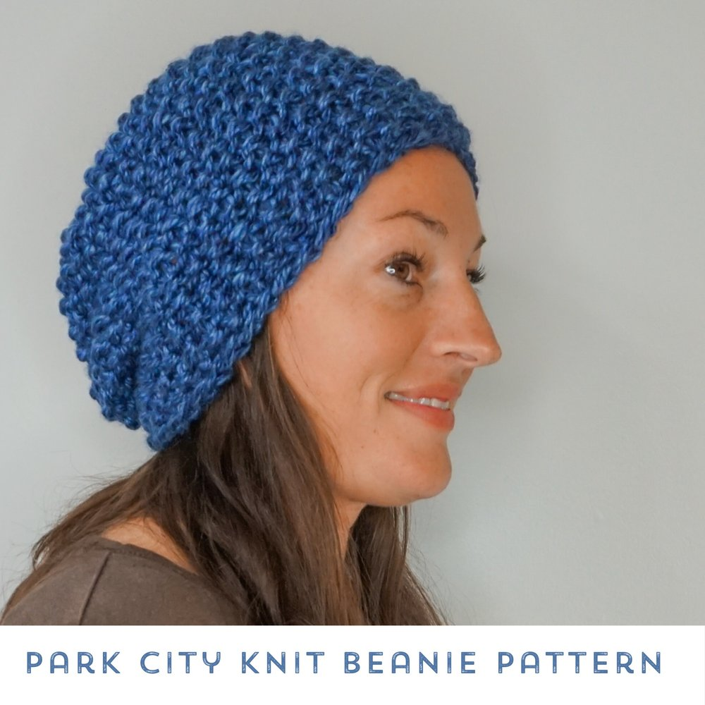 Park City Knit Beanie Free Knitting Pattern Stitch Hustle
