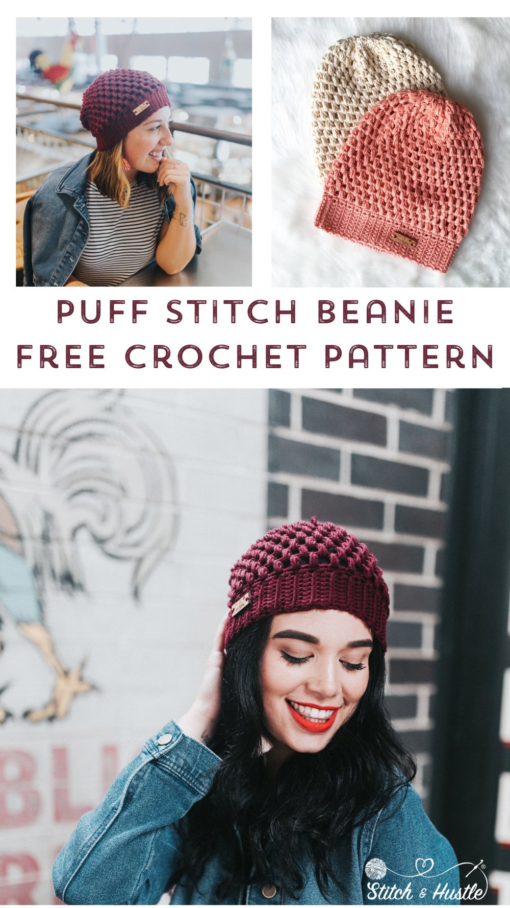 Helix Puff Stitch Hat Free Pattern Stitch Hustle