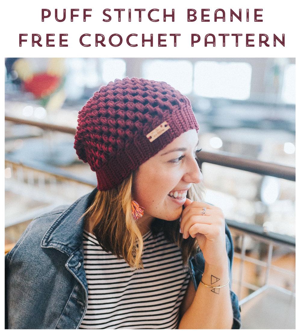 dfd16bd2e22 puff stitch slouchy beanie free crochet pattern 10.jpg.  puff stitch slouchy beanie free crochet pattern 10.jpg