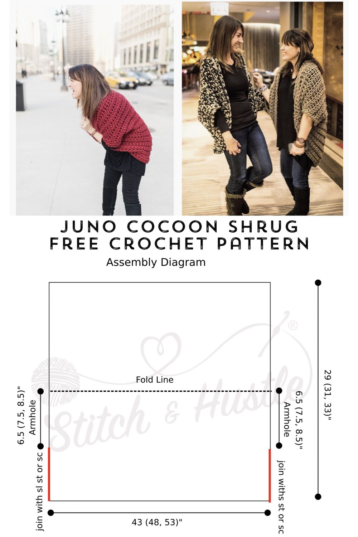 6c08609db Juno Chunky Shrug - Free Crochet Pattern — Stitch   Hustle