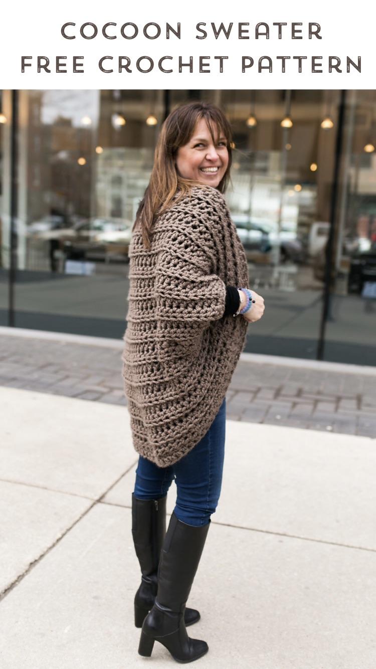Juno Chunky Shrug Free Crochet Pattern Stitch Hustle