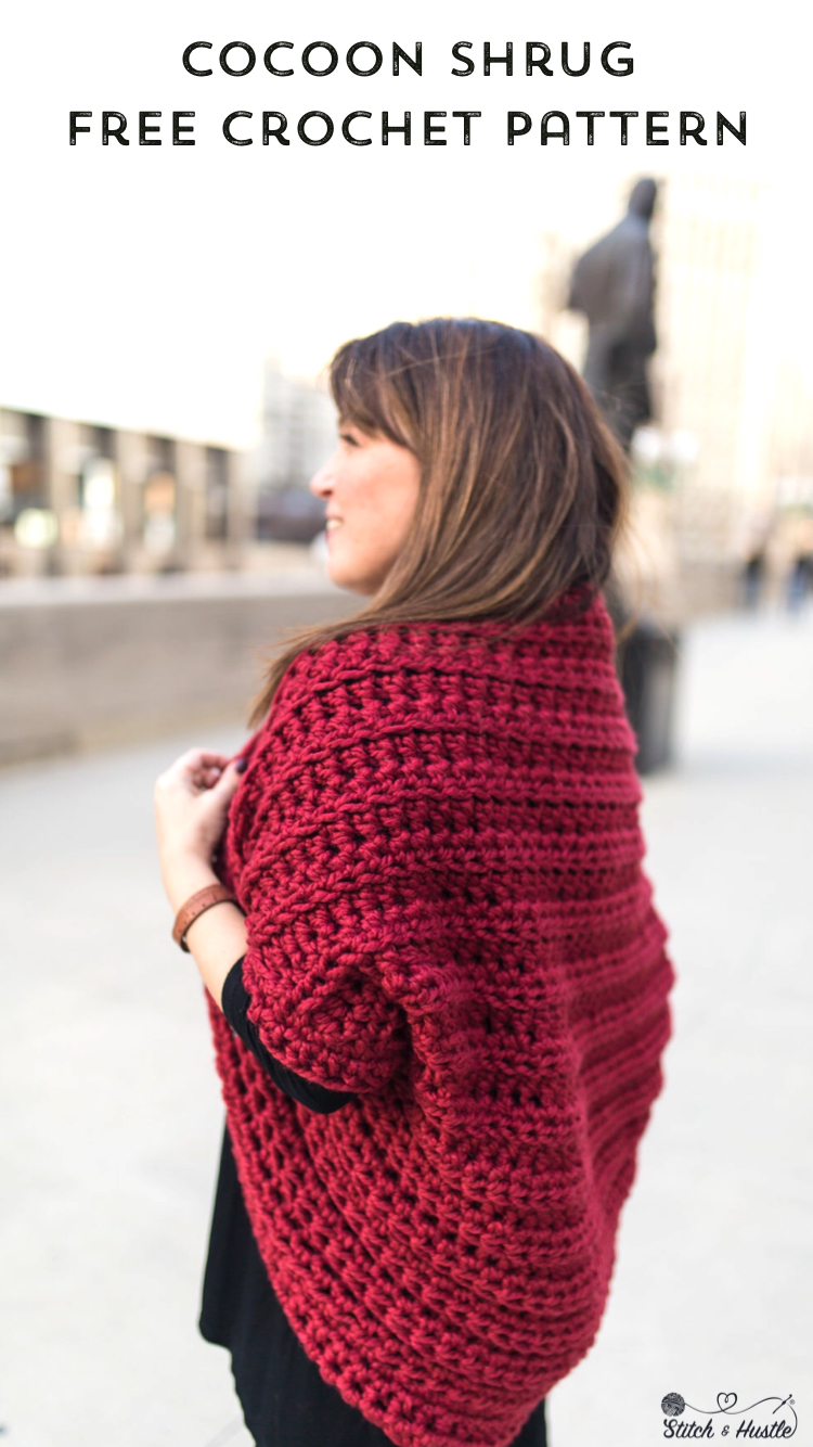 Juno Chunky Shrug Free Crochet Pattern Stitch Hustle