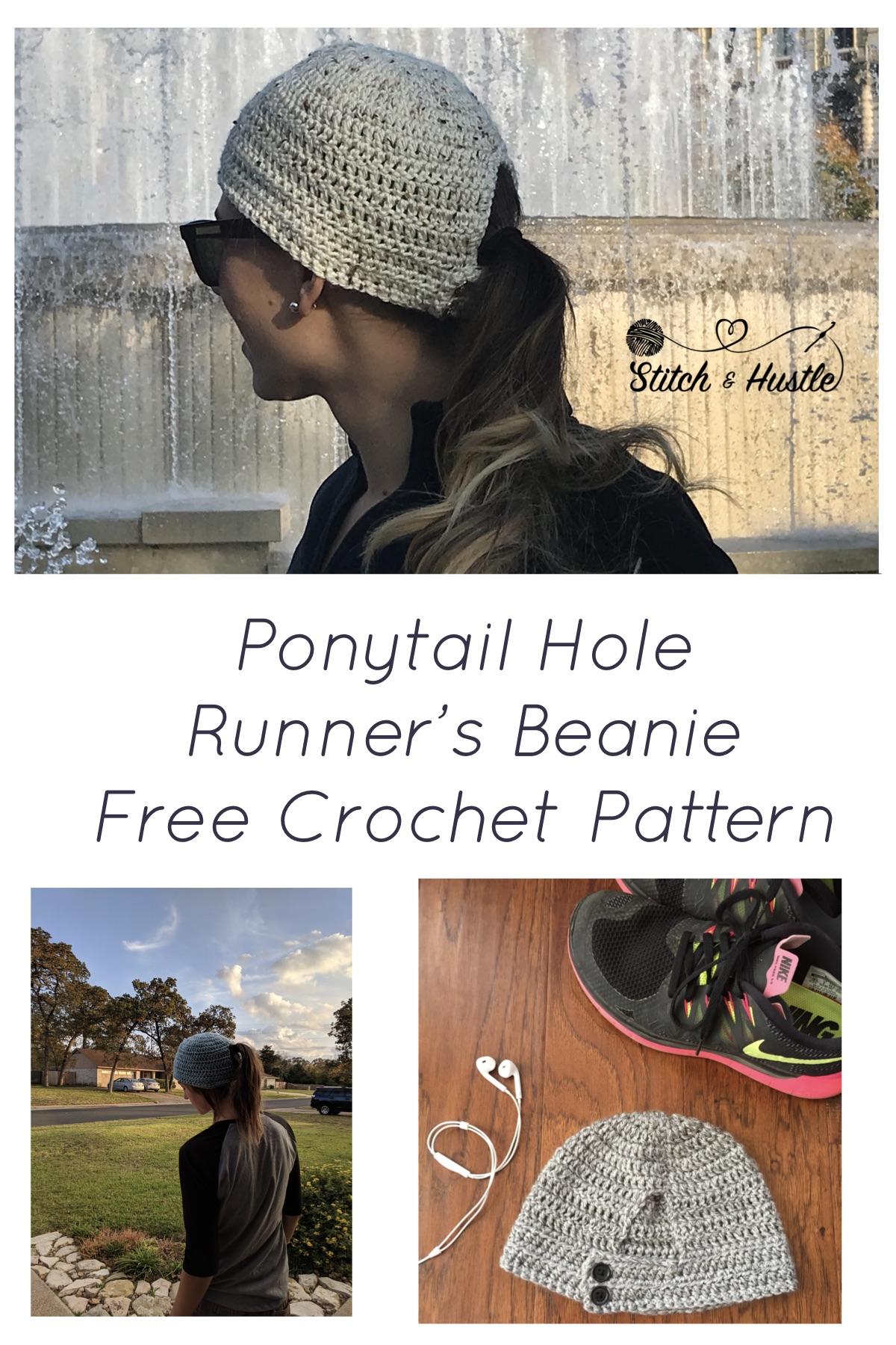 776115d7a7d ... ponytail beanie e2f59 13910 reduced the norwalk runners crochet beanie  free pattern u2014 stitch hustle bf6e8 51d01 ...