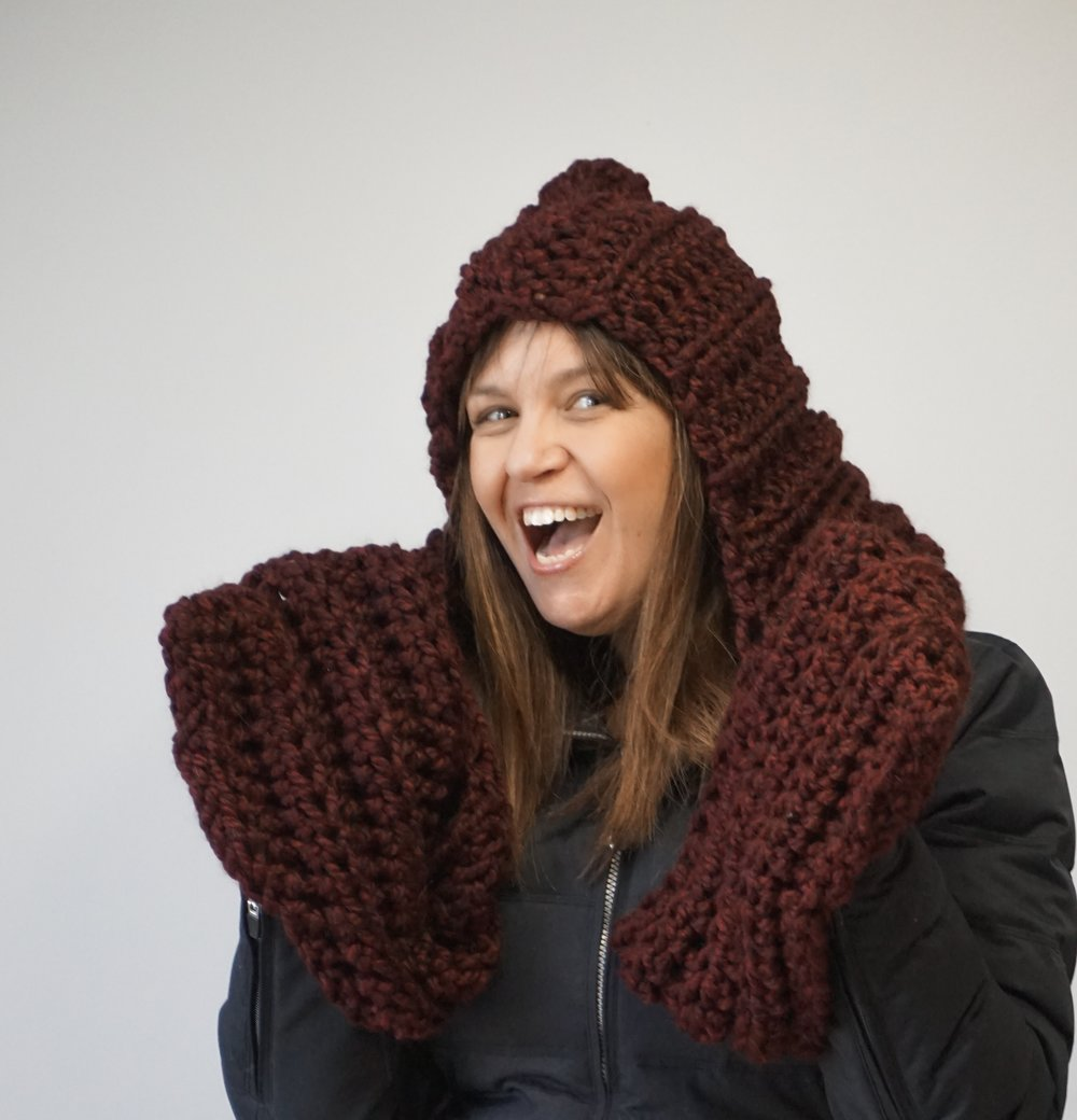 Englewood Hooded Scarf Crochet Pattern Stitch Hustle