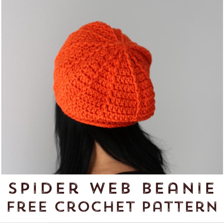 Spider Web Beanie Free Crochet Pattern Stitch Hustle