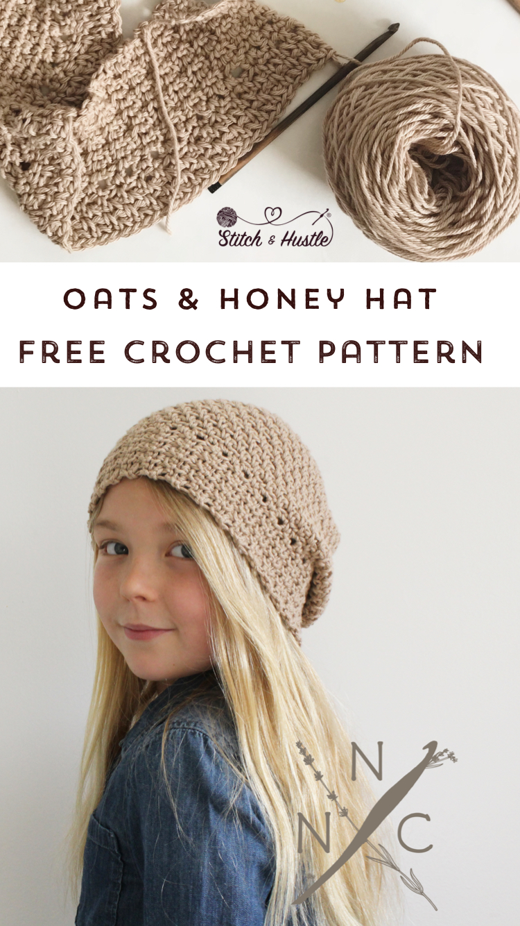 Oats Honey Crochet Hat Free Pattern Stitch Hustle