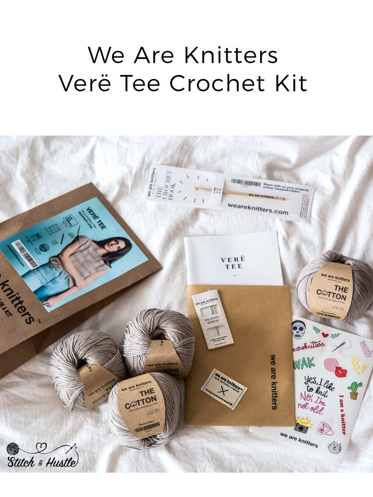 135abc69 We Are Knitters - Verë Tee - Crochet Kit Review & Giveaway