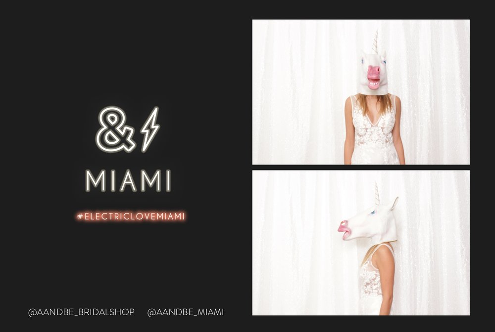 Miami bridal shop photo booth