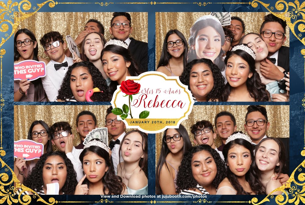 Quincenera photo booth Hialeah Miami