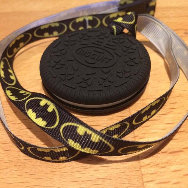 Mother Geek's review of my chewy biscuit pendant