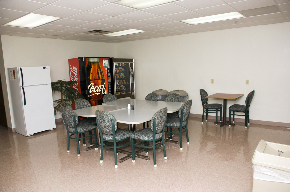 Lunch area with vending machines