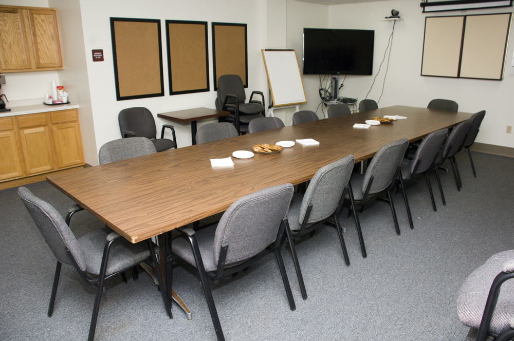 Conference room with videoconferencing availability